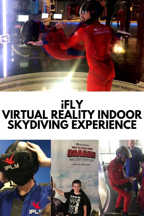 ifly indoor skydiving kid flying