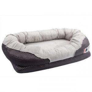 BarksBar Gray Orthopedic Dog Bed for German Shepherds