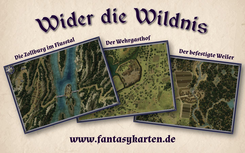Wider die Wildnis – drei Abenteuerschauplätze mit Karten am Rande der Zivilisation