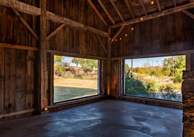 Large Windows in the Barn at Esperanza Ranch