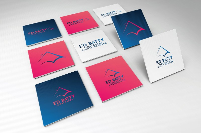 Ed Batty Mortgage Branding Design and Logo Design