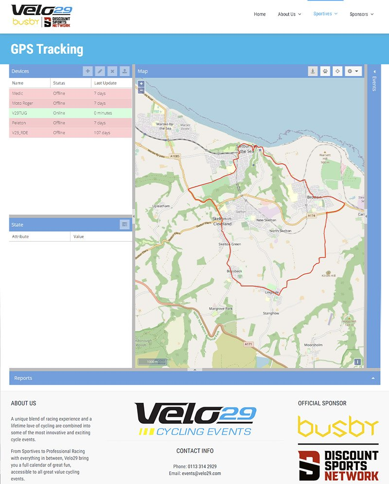 GPS tracking integrated into cycling event website