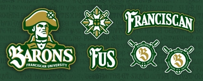 Athletics Identity for the Franciscan University of Steubenville by Freelance Sports Identity Designer John Hartwell. Click to visit John's online portfolio!