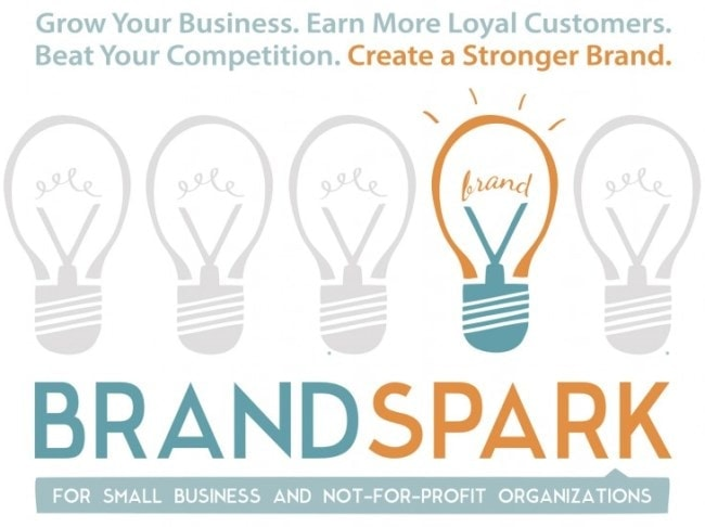 Using Speaking to Market Your Creative Services. Self-promotional material for the Brand Spark event by Freelance Graphic and Web Designer Molly Mason. Click to visit Molly's online portfolio!