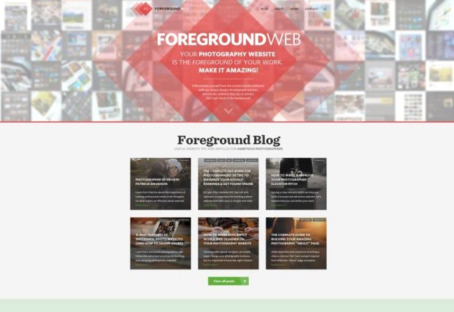 Homepage of ForegroundWeb. The Site of Photography Website Designer Alex Vita. Click to visit!