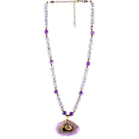Amethyst Stalactite Necklace