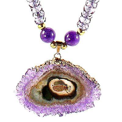 Amethyst Stalactite Necklace-Pendant