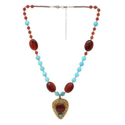 Carnelian Tibetan Necklace