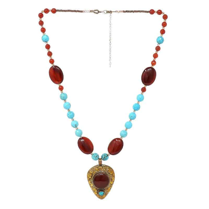 Carnelian Tibetan Necklace