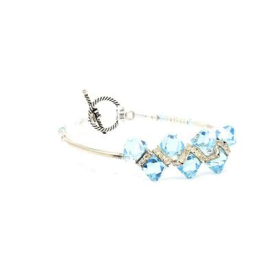 Bondi Beach Crystal Bracelet - Right
