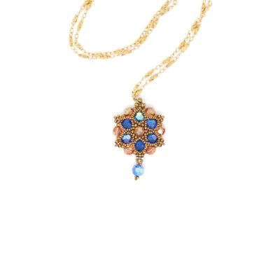 Melbourne Blue Swarovski Crystal Necklace