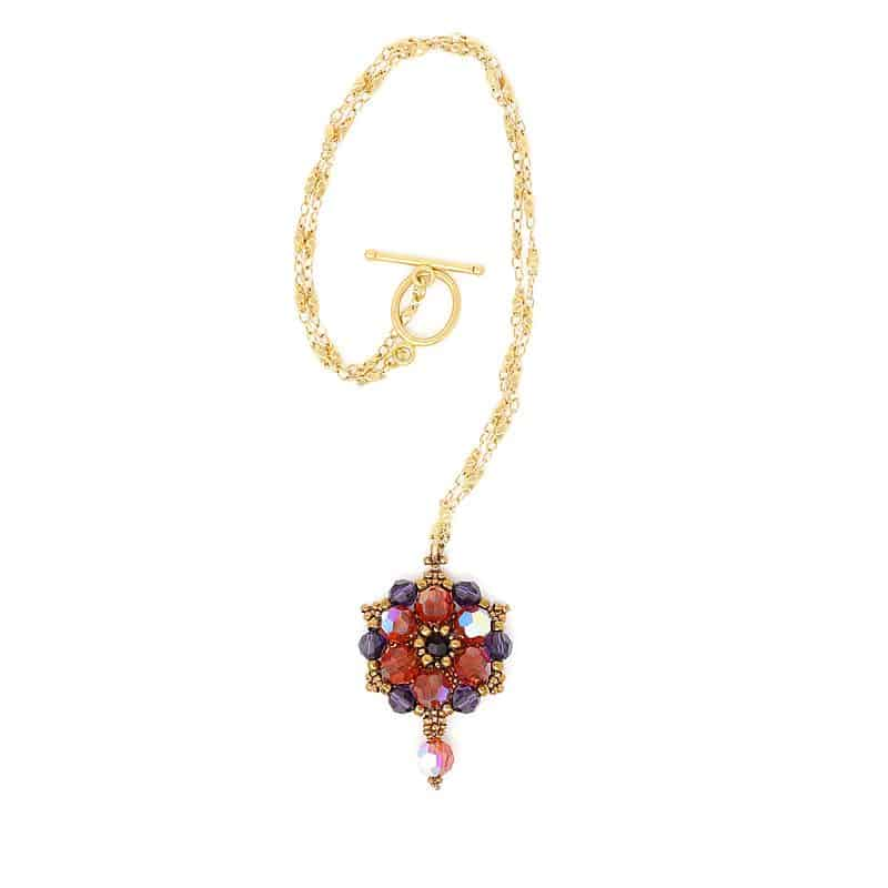 Sydney Swarovski Summer Bloom Necklace - Side B