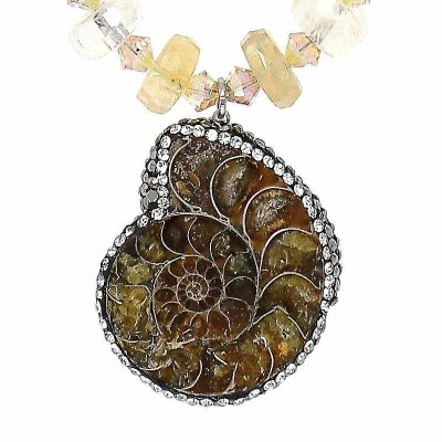 Citrine Ammonite Necklace