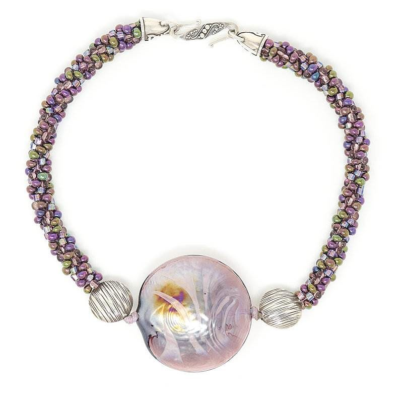 Murano Purple Bubble Necklace