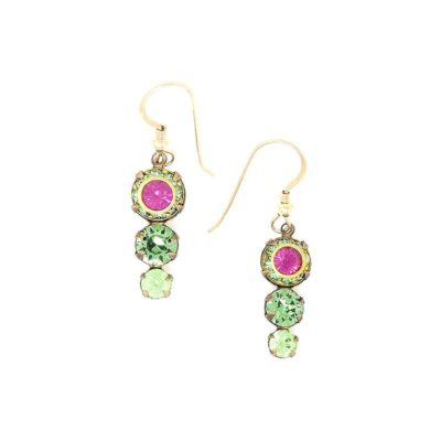 Dahlia Swarovski Green Crystal Earrings - HerMJ