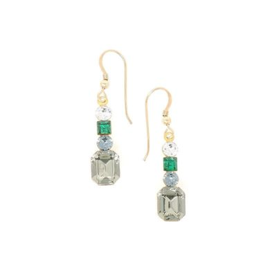 Paris Golden Lights Swarovski Crystal Earrings - HerMJ