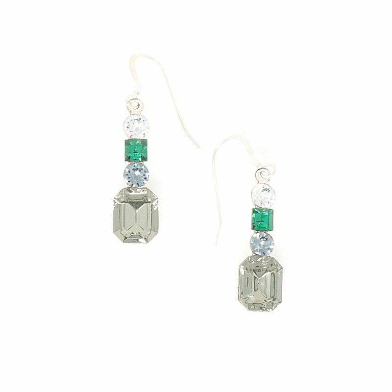 Paris Silver Lights Swarovski Crystal Earrings - HerMJ