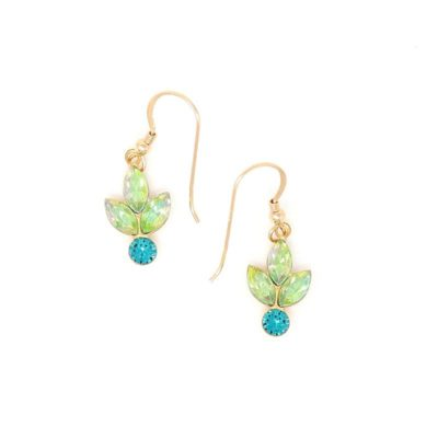 Peridot Golden Reflections Swarovski Crystal Earrings - HerMJ
