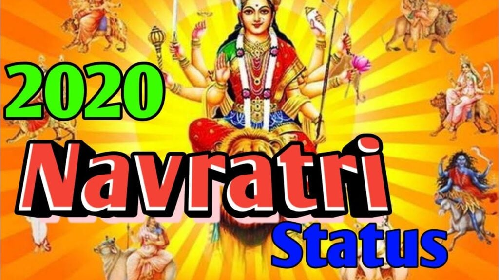 Happy Navratri 2020 whatsapp status video download Happy Garba Maa Durga Sherawali status