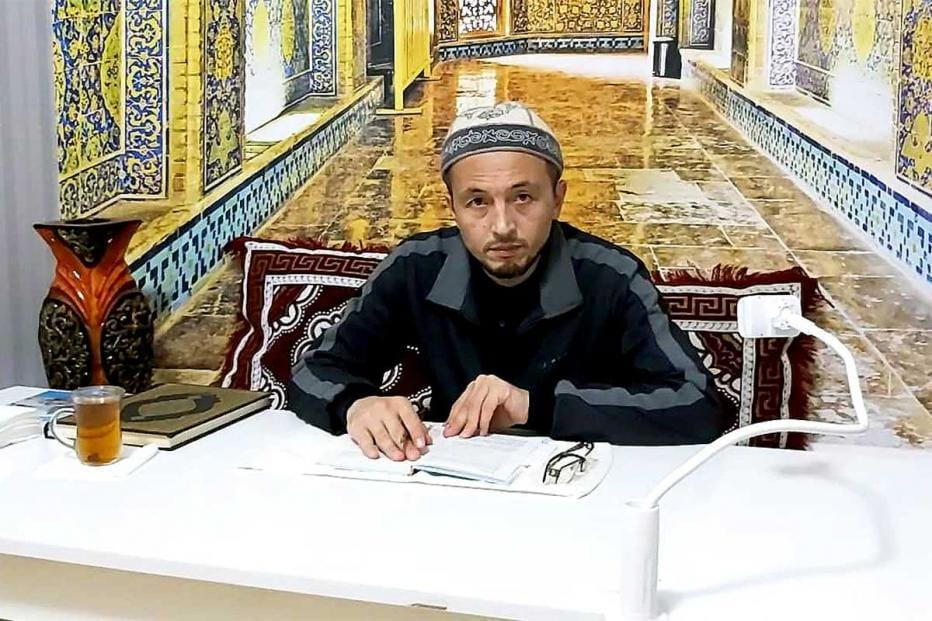 Yusufhon Zakaria, a 38-year-old Kyrgyz imam whose support for girls' education has earned him a huge following on Instagram and Youtube.