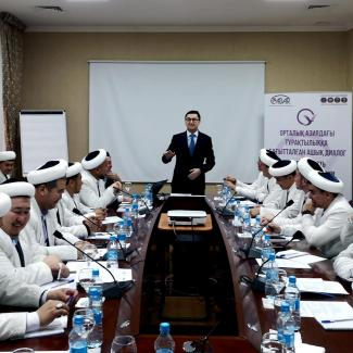 Training session in social media for imams in Kyzylorda, a city in south-central Kazakstan.