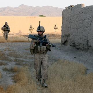 The Taleban want to deter Helmand civilians from cooperating with international forces like these US Marines, but the murder of an eight-year old has directed local ire against their own ruthless practices. (Photo: US military/First Lieutenant Kurt Stahl)