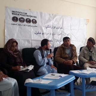 IWPR debate in Ghor province, November 2015. (Photo: IWPR)