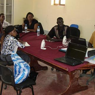 Training and mentoring course for broadcast journalists held in Juba. (Photo: IWPR)