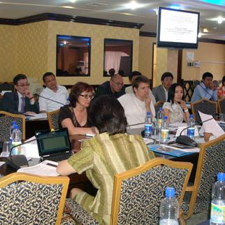 IWPR-supported round table on preventing suicide in the Kazak capital Astana. (Photo: Institute for Equal Rights and Equal Opportunities)