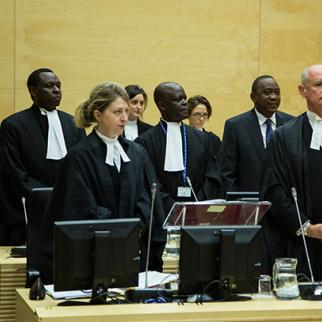 Defence of Mr Kenyatta at the beginning of the Status Conference. (Photo: ICC-CPI/Flickr)