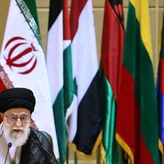 Iranian Supreme Leader Ali Khamenei addressing the Intifada conference in Tehran. October 2, 2011. (Photo: Hamed Malekpour/Fars News Agency)