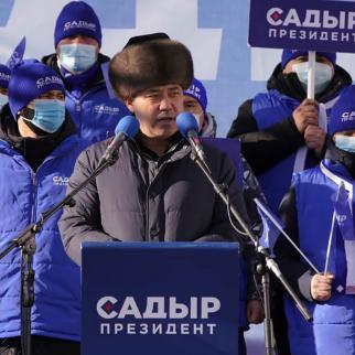 Sadyr Zhaparov, Kyrgyzstan's new president. (Photo: Sadyr Zhaparov's Facebook page)