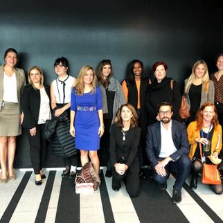 Syrian activists and IWPR staff with representatives of the Dutch ministry of foreign affairs. (Photo: IWPR)