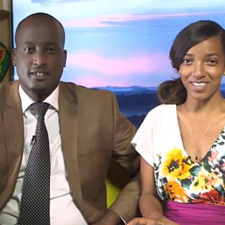 A still from the Rise and Shine Rwanda TV programme.