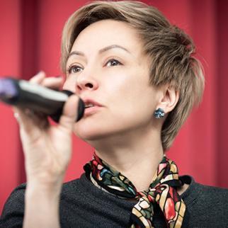IWPR Ukraine project manager Katya Laba. (Photo: IWPR)