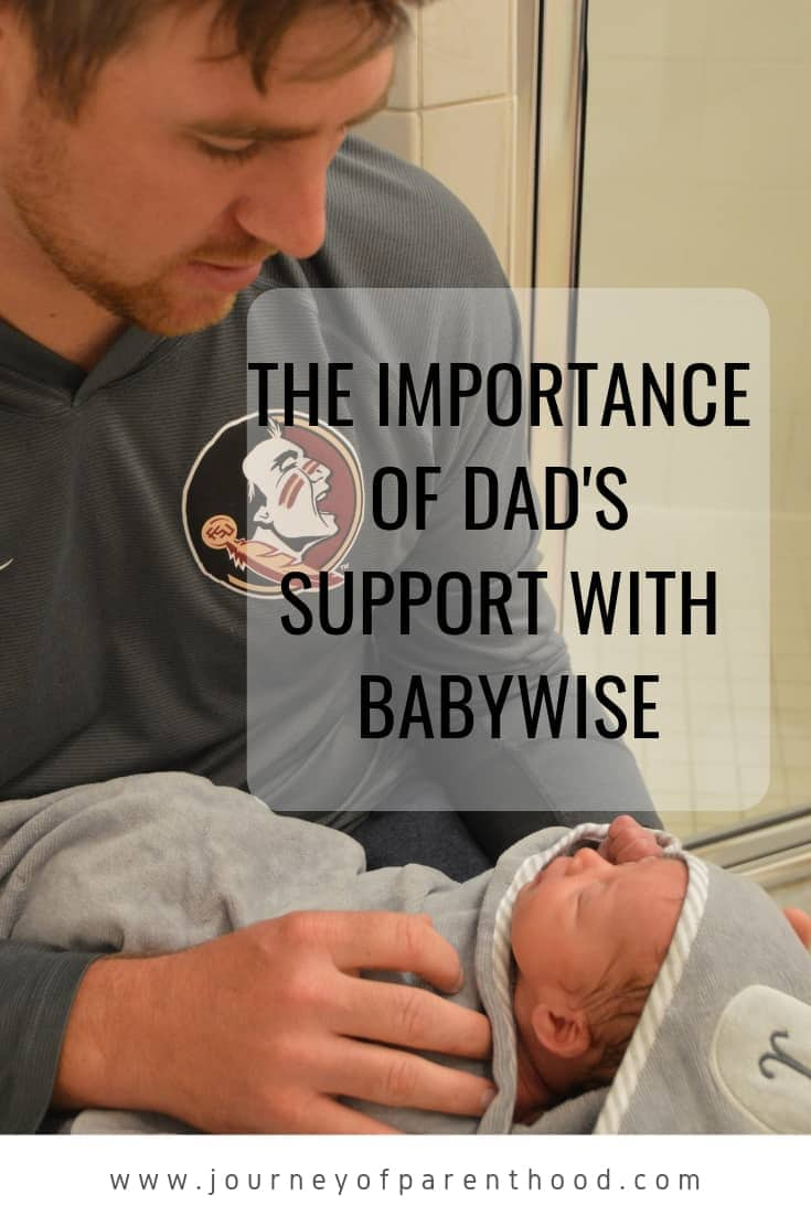 the importance of dad's support in Babywise