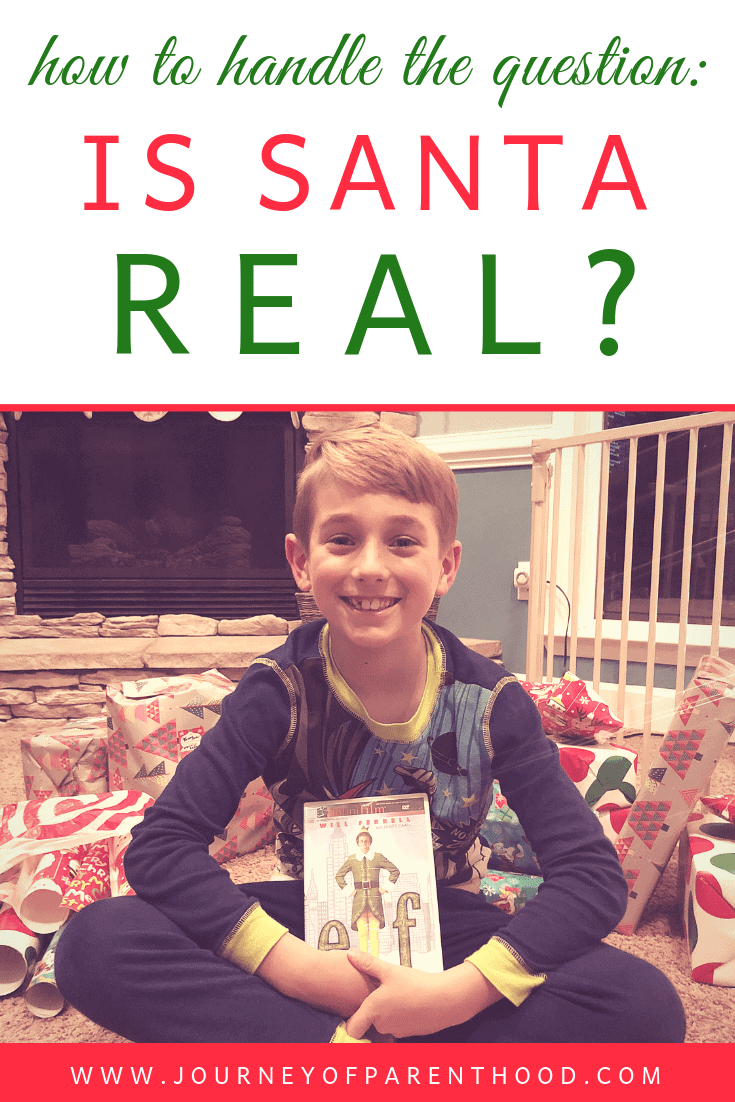 how to handle the question: is santa real?