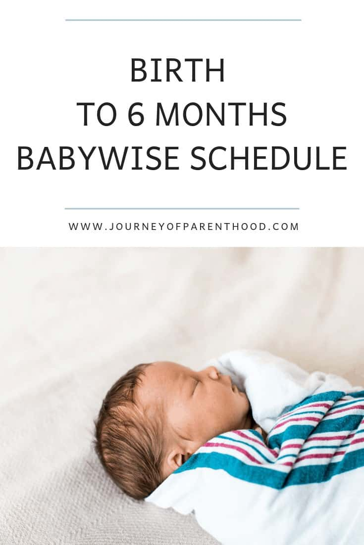 birth to six month babywise schedule