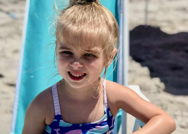tess at beach