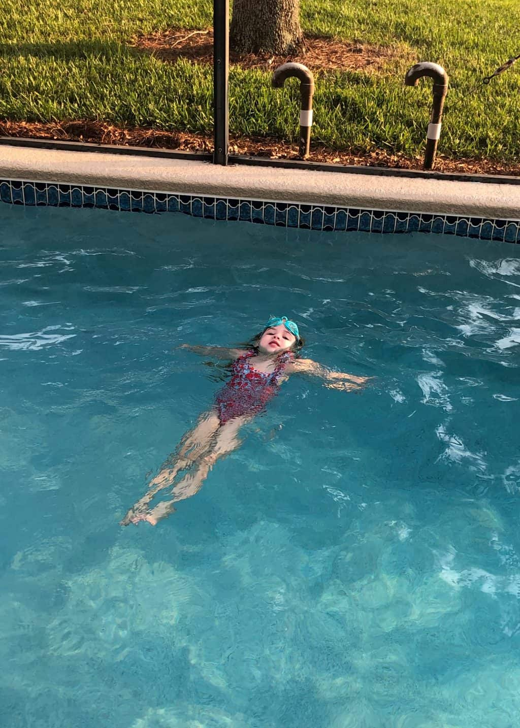 kids swimming and cookies