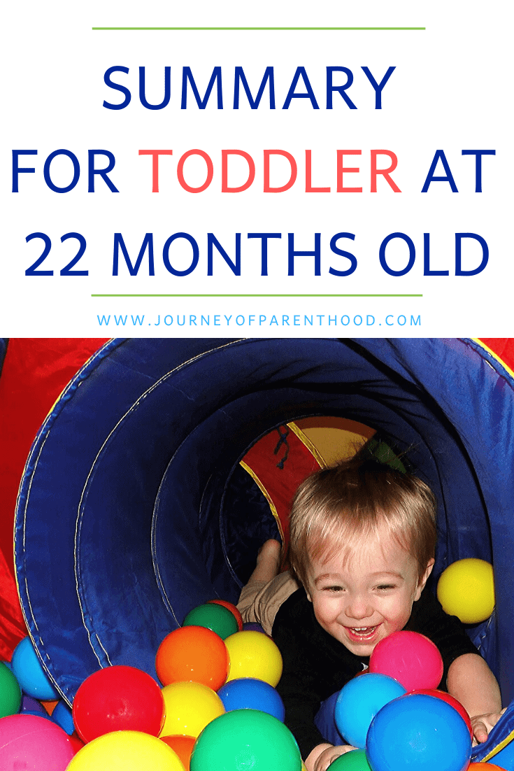 summary for toddler at 22 months old