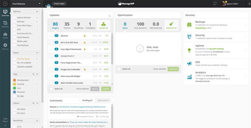 manage multiple wordpress sites plugin