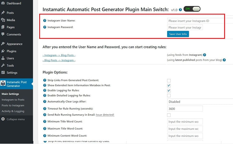 Instamatic Automatic Post Generator and Instagram Auto Poster review