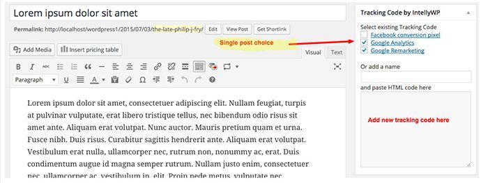 how to add remarketing code to wordpress