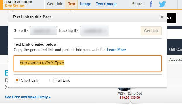 using Amazon shortening service