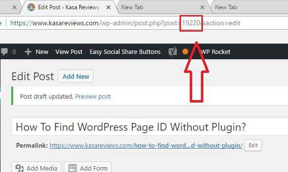 get page id wordpress