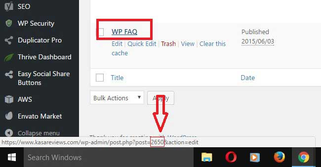 wordpress get page id