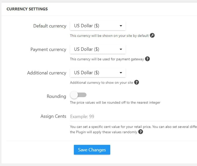 alidropship currency settings