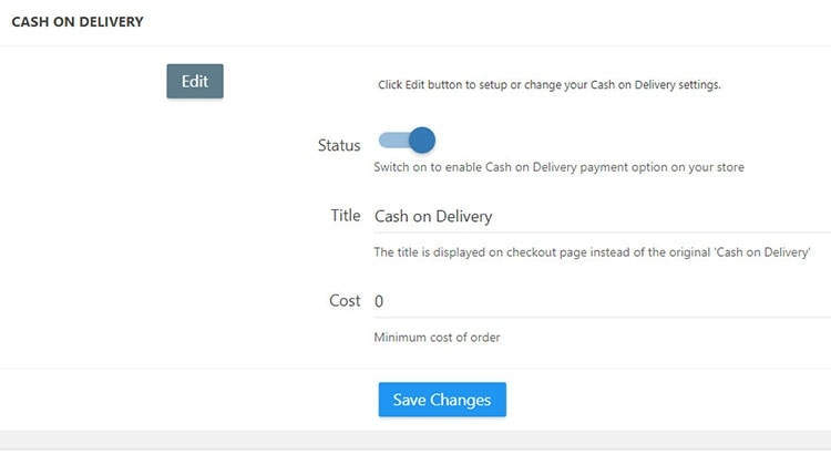 cash on delivery payment alidropship plugin