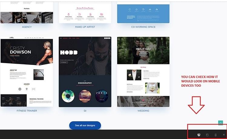 wp portfolio responsive design